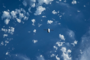 ATV-5 flying below ISS, August 2014 (credit NASA)